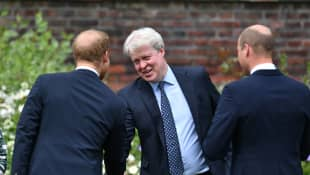 Prince Harry, Prince William and Charles Spencer