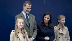 Princesa Leonor, Rey Felipe VI, Reina Letizia, Infanta Sofía