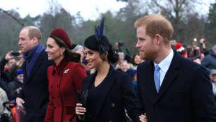 Kate Middleton, Meghan Markle y los príncipes William y Harry