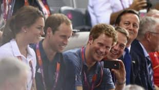 Kate Middleton y los príncipes William y Harry