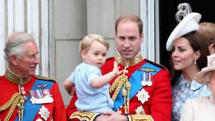 Príncipe Carlos, Príncipe Jorge, Príncipe William y Duquesa Catalina