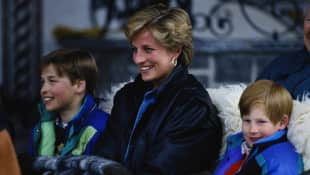 Prince William, Lady Diana and Prince Harry