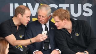 Prince Charles with Prince William and Prince Harry