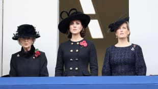 Princess Alexandra, Kate Middleton, and Sophie, Countess of Wessex