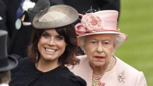 Princess Eugenie and Queen Elizabeth II