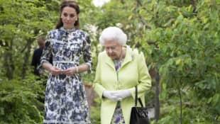 Duchess Kate and Queen Elizabeth II