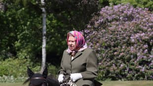 Queen Elizabeth II Spotted Horseback Riding In New Photos At Windsor Castle During Lockdown