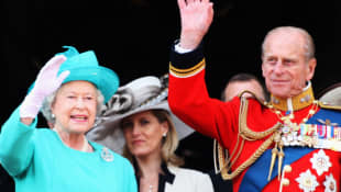 Queen Elizabeth II, Countess Sophie and Prince Philip