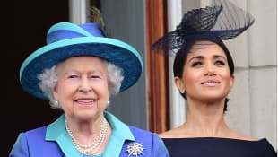 Queen Elizabeth II and Duchess Meghan
