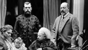Queen Victoria, Tsar Nicholas II, and Edward VII