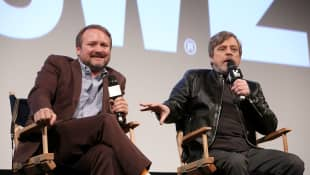 Rian Johnson and Mark Hamill at SXSW 2018 for 'Star Wars: The Last Jedi'.