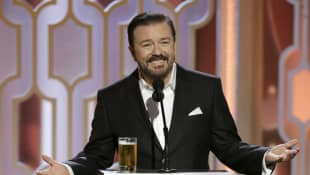 Ricky Gervais Shares NSFW Joke On Getting COVID-19 Vaccine jab picture 2021 coronavirus