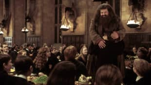 "Robbie Coltrane as ""Hagrid"" in ""Harry Potter"""