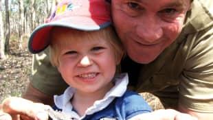 Steve Irwin and Robert Irwin