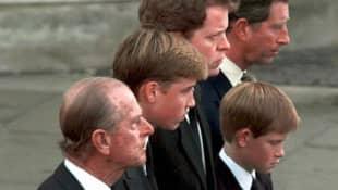 Prince Philip, Prince Harry and Prince Charles