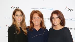 Sarah Ferguson, Princess Eugenie and Princess Beatrice