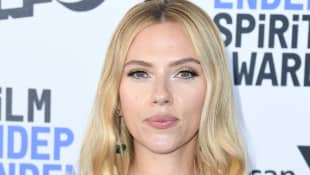Scarlett Johansson attends the 2020 Film Independent Spirit Awards.