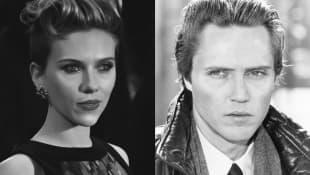 Scarlett Johansson and Christopher Walken