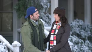 "Scott Patterson and Laren Graham as ""Luke"" and ""Lorelai"" in 'Gilmore Girls'."