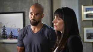 Shemar Moore and Paget Brewster
