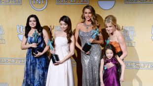 Ariel Winter, Sarah Hyland, Sofia Vergara, Aubrey Anderson-Emmons y Julie Bowen