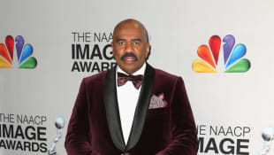 Steve Harvey Hosts 'RHOBH' And Andy Cohen On 'Family Feud'