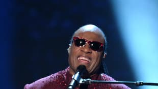 Stevie Wonder performing at the 2014 GRAMMY Awards