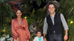 Tamera Mowry and family