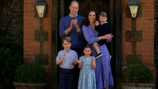 Prince William, Duchess Kate and their children