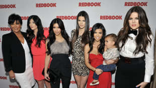 The Kardashians pose for a picture as Redbook celebrates first ever family issue with the Kardashians held at The Sunset Tower Hotel 2011.