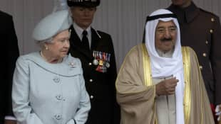 Reina Isabel y el emir de Kuwait