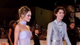 Timothée Chalamet and Lily-Rose Depp