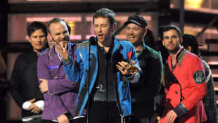 Chris Martin, Will Champion, Guy Berryman y Jonny Buckland