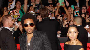 Zoe Kravitz and Lenny Kravitz