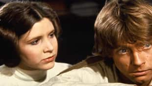 Carrie Fisher and Mark Hamill in A New Hope 1977