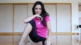 Alessandra Rosaldo ensayando para el 2º Campeonato Mundial de Baile