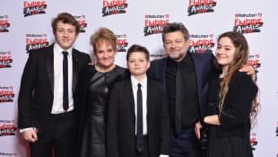 Andy Serkis, Lorraine Ashbourne and Children