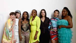 Anifa Mvuemba y sus modelos