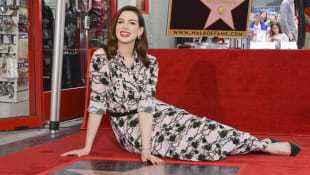 Anne Hathaway receives star on Hollywood Walk of Fame