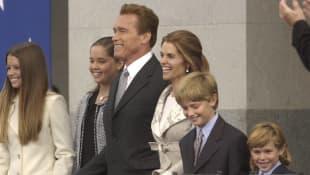 Arnold Schwarzenegger, Maria Shriver and family