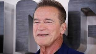 "Arnold Schwarzenegger Dons ""We'll Be Back"" Mask While Out Biking"
