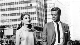 Audrey Hepburn and George Peppard in 'Breakfast at Tiffany's'