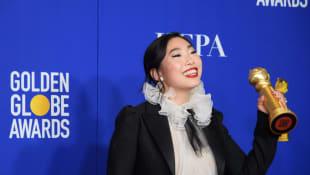 Awkwafina at the 2020 Golden Globe Awards.