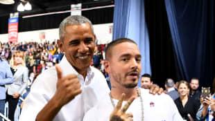 Barack Obama y J Balvin