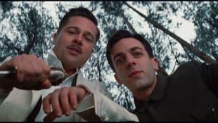 Brad Pitt and B. J. Novak in 'Inglorious Bastards'