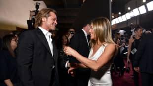 Watch Brad Pitt's Adorable Reaction to Jennifer Aniston's acceptance speech at the 2020 SAG Awards