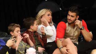Britney Spears, Sam Asghari, Sean Federline, and Jayden James Federline