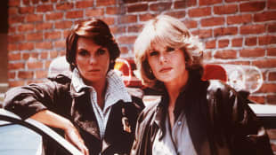 """Tyne Daly (""""Lacey"""") and Sharon Gless (""""Cagney"""") in Cagney & Lacey 1995"""