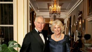 Prince Charles and the Duchess of Cornwall at Clarence House
