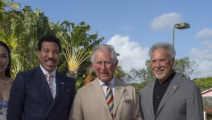 Prince Charles, Lionel Richie and Tom Jones
